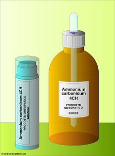 Ammonium carbonicum - image AMMONIUM-CARBONICUM-gocce-granuli1 on https://rimediomeopatici.com